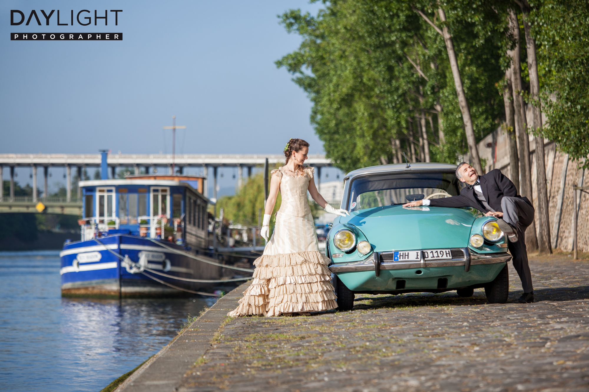 Citroën DS wedding photographer paris