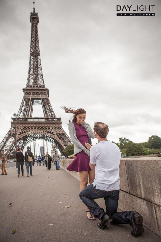 proposal photoshooting eiffeltower
